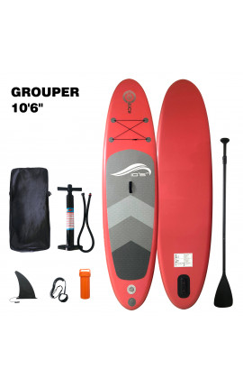 """SUP BOARD TOO MUCH GROUPER 10,6"""" RED"""