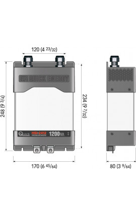 INVERTER HSI 2412 18-32 VDC 1200VA