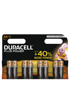 STILO DURACELL PLUS POWER AA DA 8
