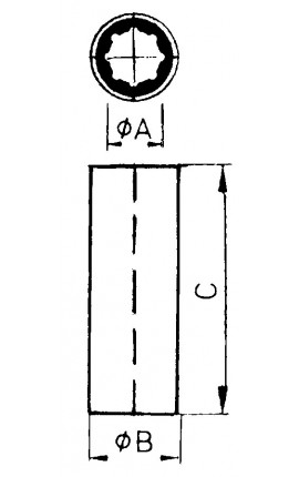 FASCETTA INOX C/PERNO MM.52-55