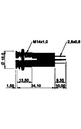 TUBO GAS DI SCARICO MM 40X49
