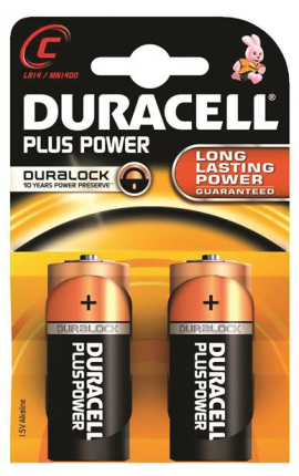 MEZZATORCIA DURACELL PLUS POWER C