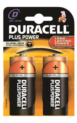 TORCIA DURACELL PLUS POWER D