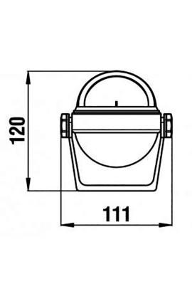 LAMPADA LED MR16 120° LUCE CALDA