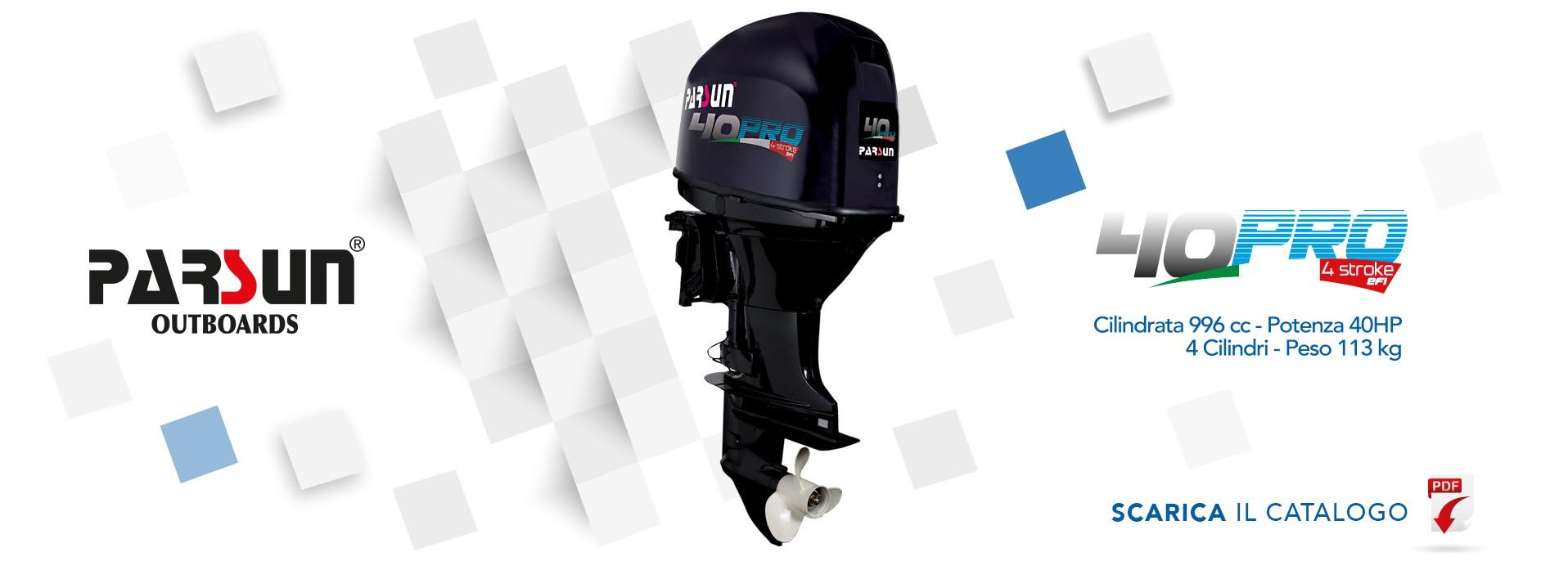 Scopri il nuovo motore PARSUN 40 PRO.